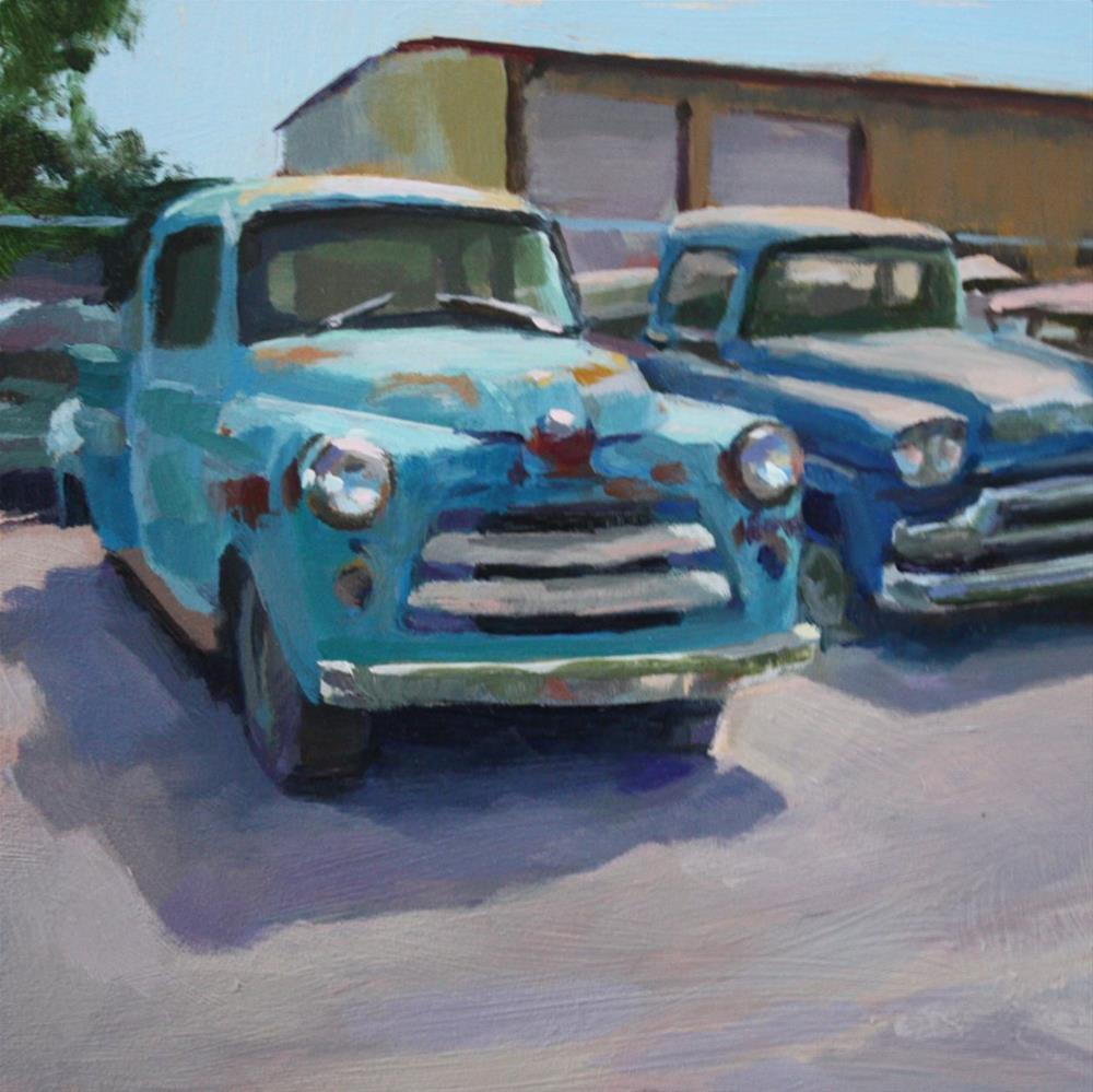 """Long Term Parking"" original fine art by Kaethe Bealer"