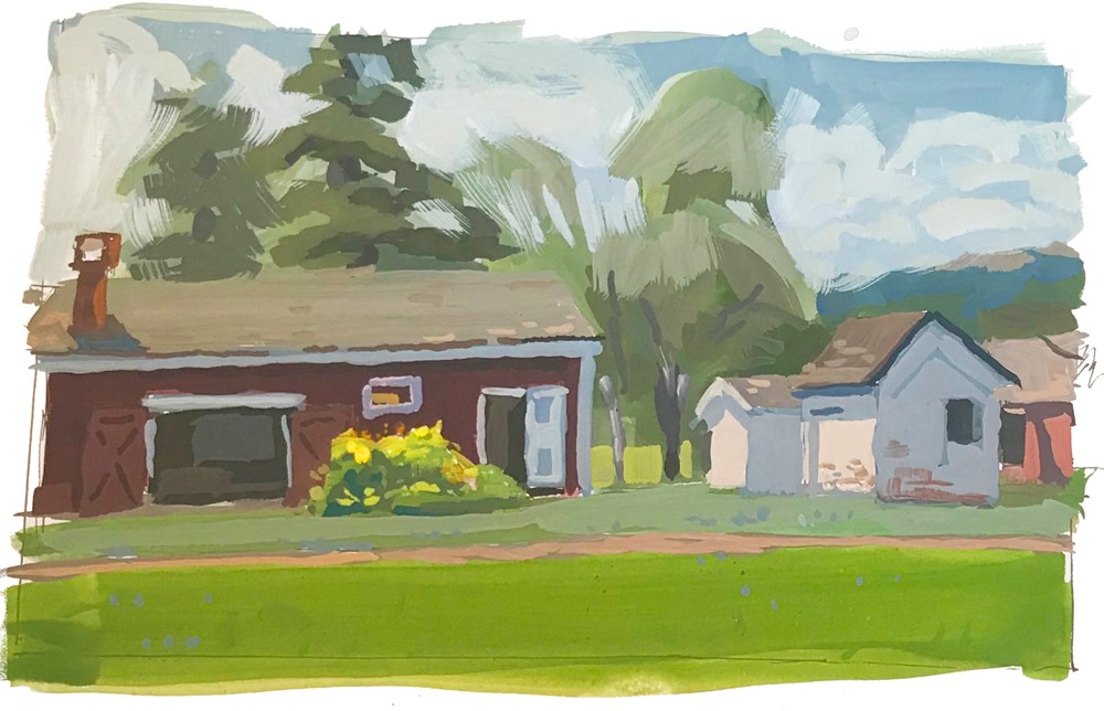 """Hale Farm 2"" original fine art by Chris Greco"