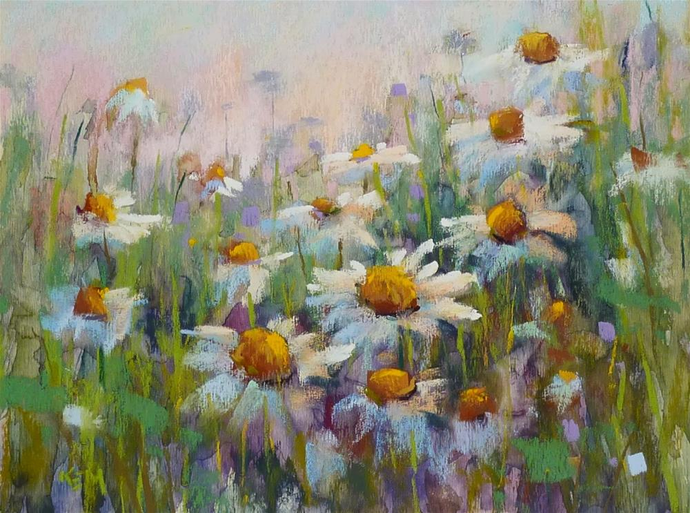 """How to Paint Daisies"" original fine art by Karen Margulis"
