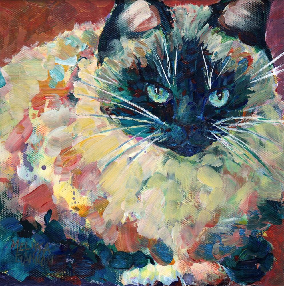 """Fluff & Attitude"" original fine art by Melissa Gannon"
