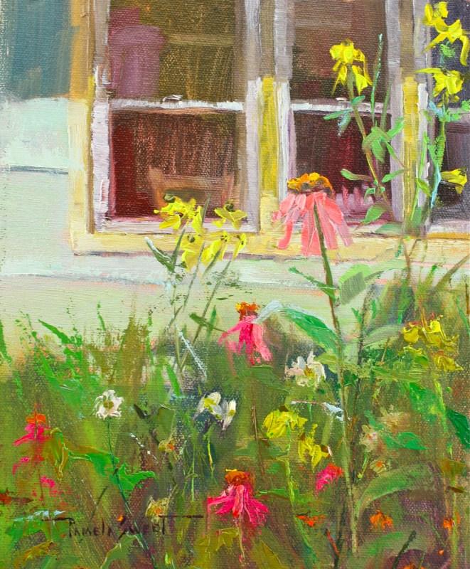 """Cottage Flowers"" original fine art by Pamela Sweet"