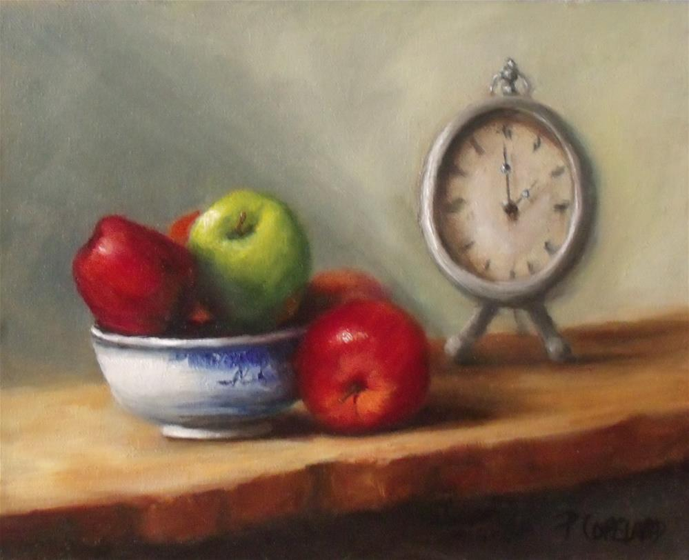 """Apple Time"" original fine art by Pamela H. Copeland"