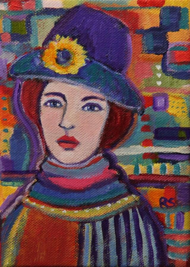 """""""Elizabeth"""" original fine art by Roberta Schmidt"""