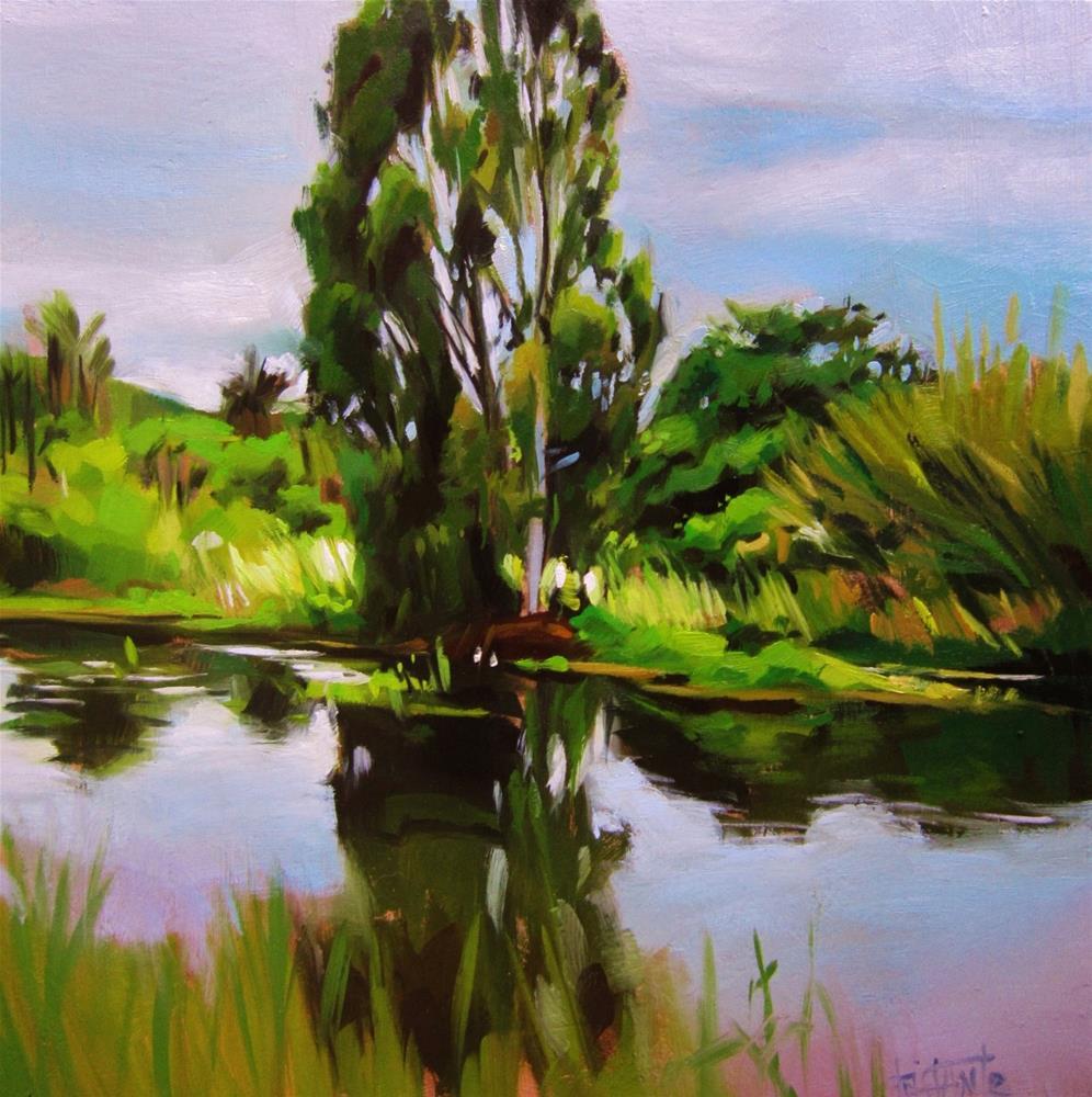 """Tree on the border"" original fine art by Víctor Tristante"