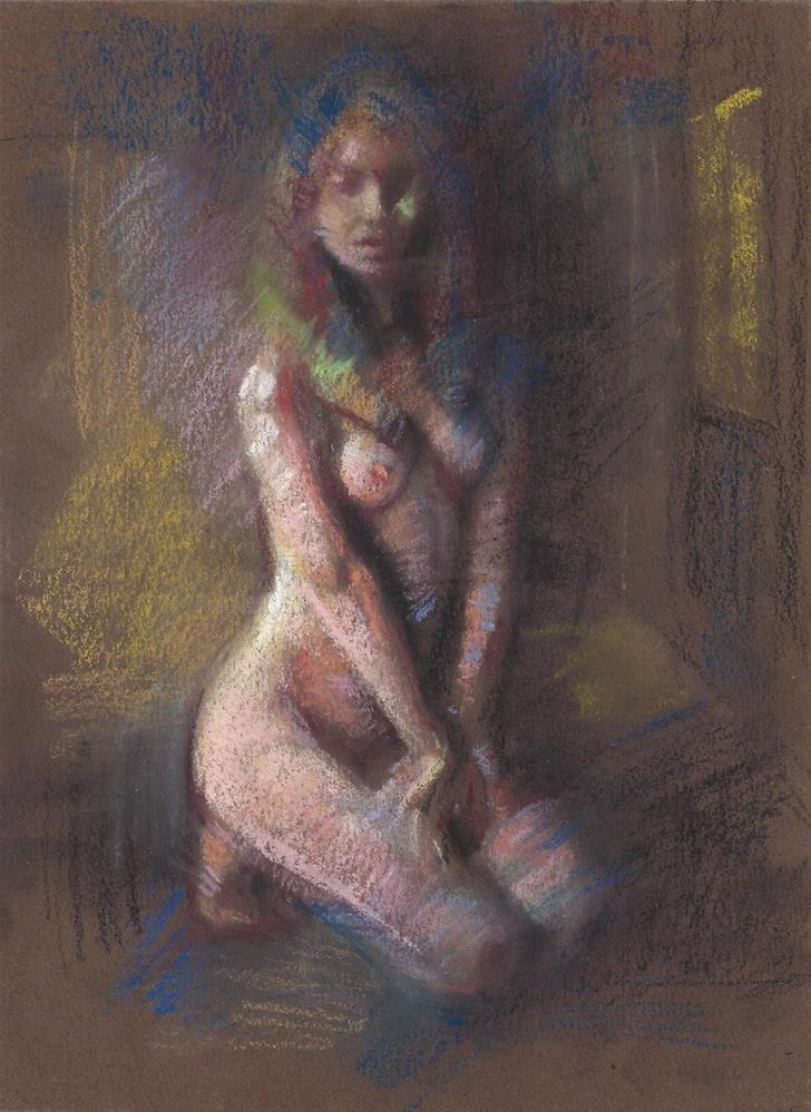 """The waiting room"" original fine art by Daniel Peci"