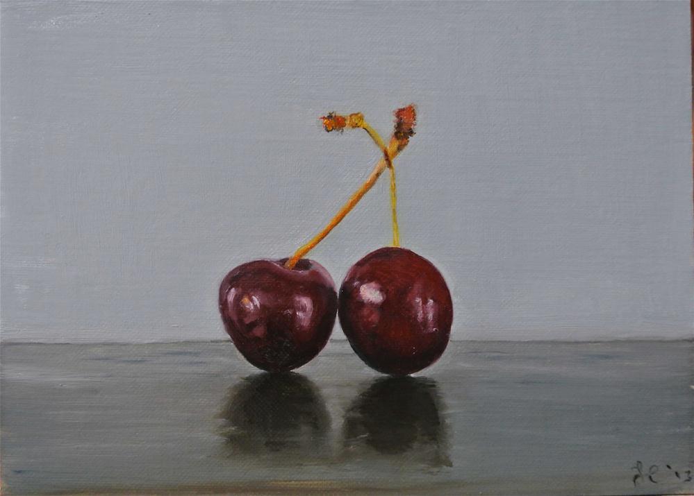 """Cherries"" original fine art by James Coates"