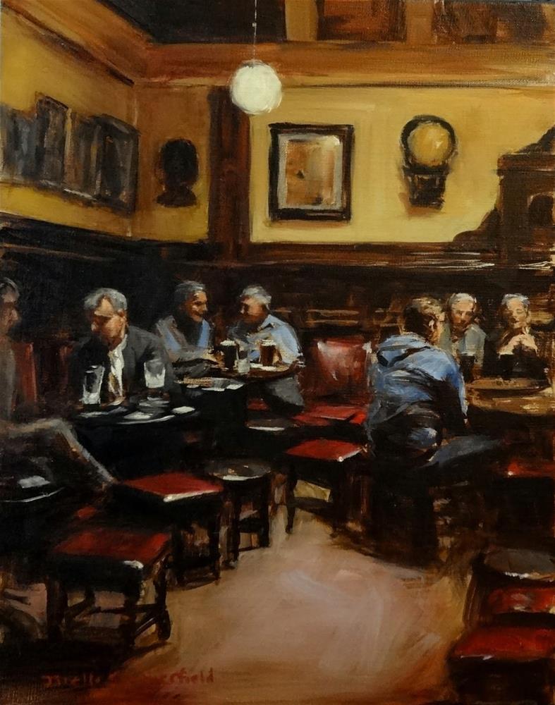 """""""The Palace Bar"""" original fine art by Jonelle Summerfield"""