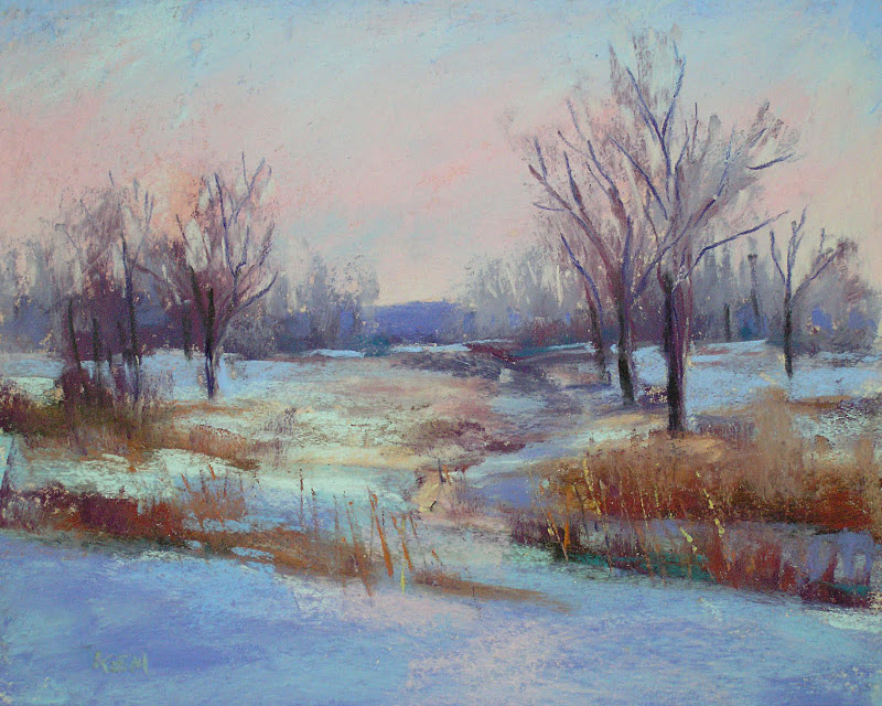 """Painting Winter Landscapes...I need your Photos!"" original fine art by Karen Margulis"