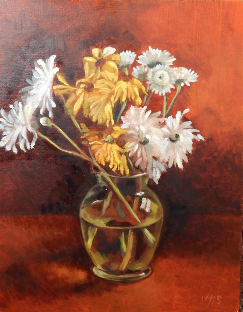 """Daisies In A Vase"" original fine art by Megan Schembre"