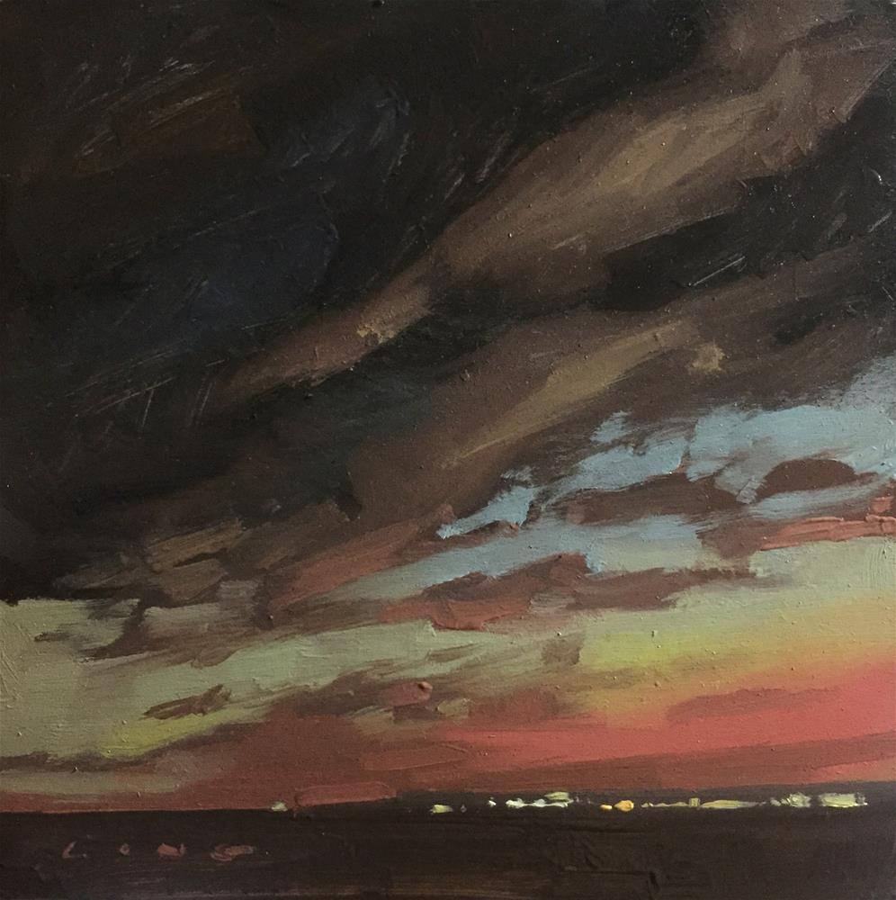 """Dark Skies, Kansas"" original fine art by Chris Long"