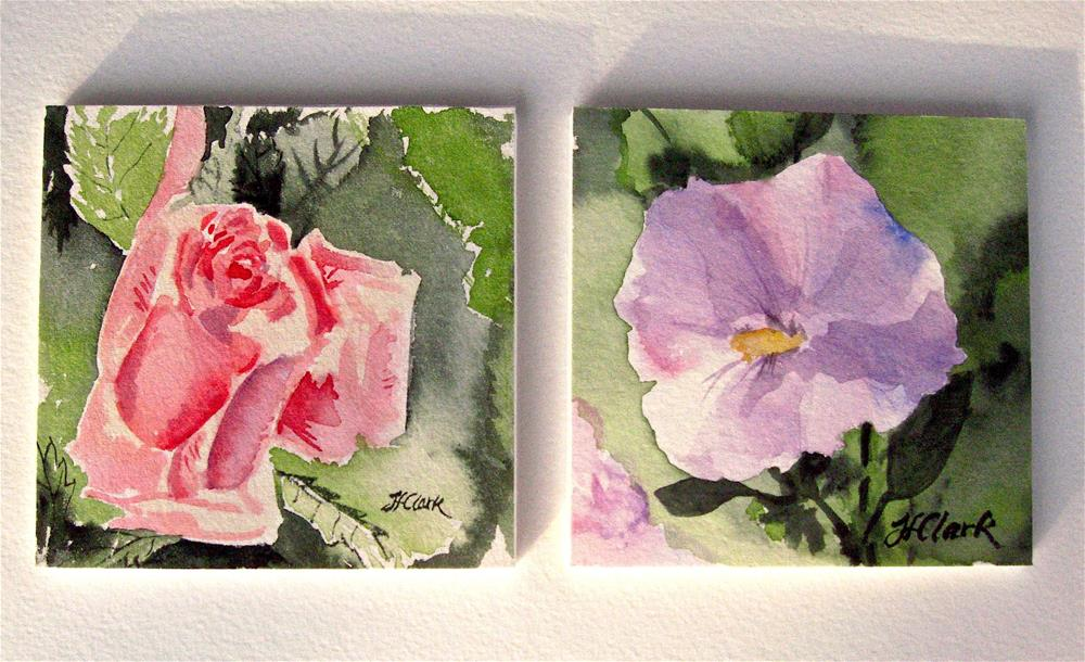 """Tiny Flowers"" original fine art by Judith Freeman Clark"