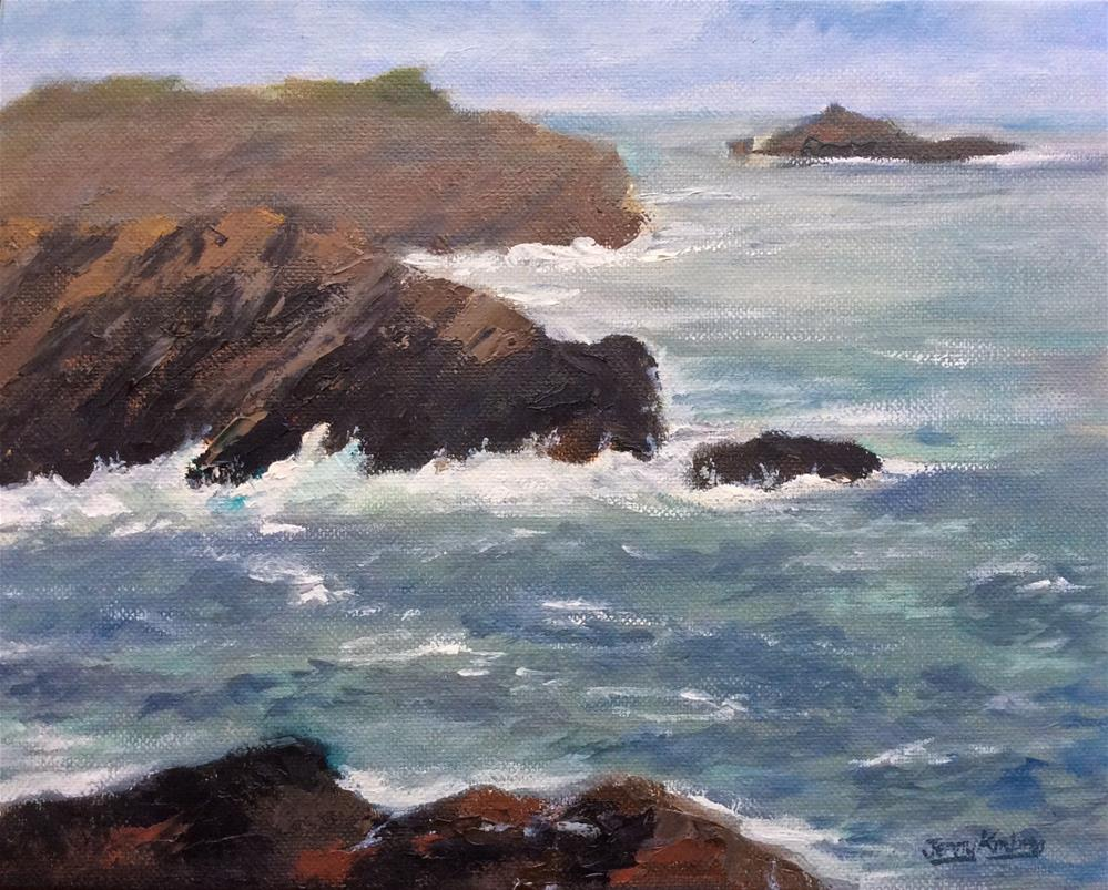 """Rocky shores"" original fine art by Jenny Kinberg"