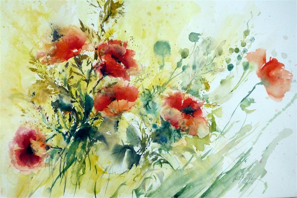 """Poppies"" original fine art by Christa Friedl"