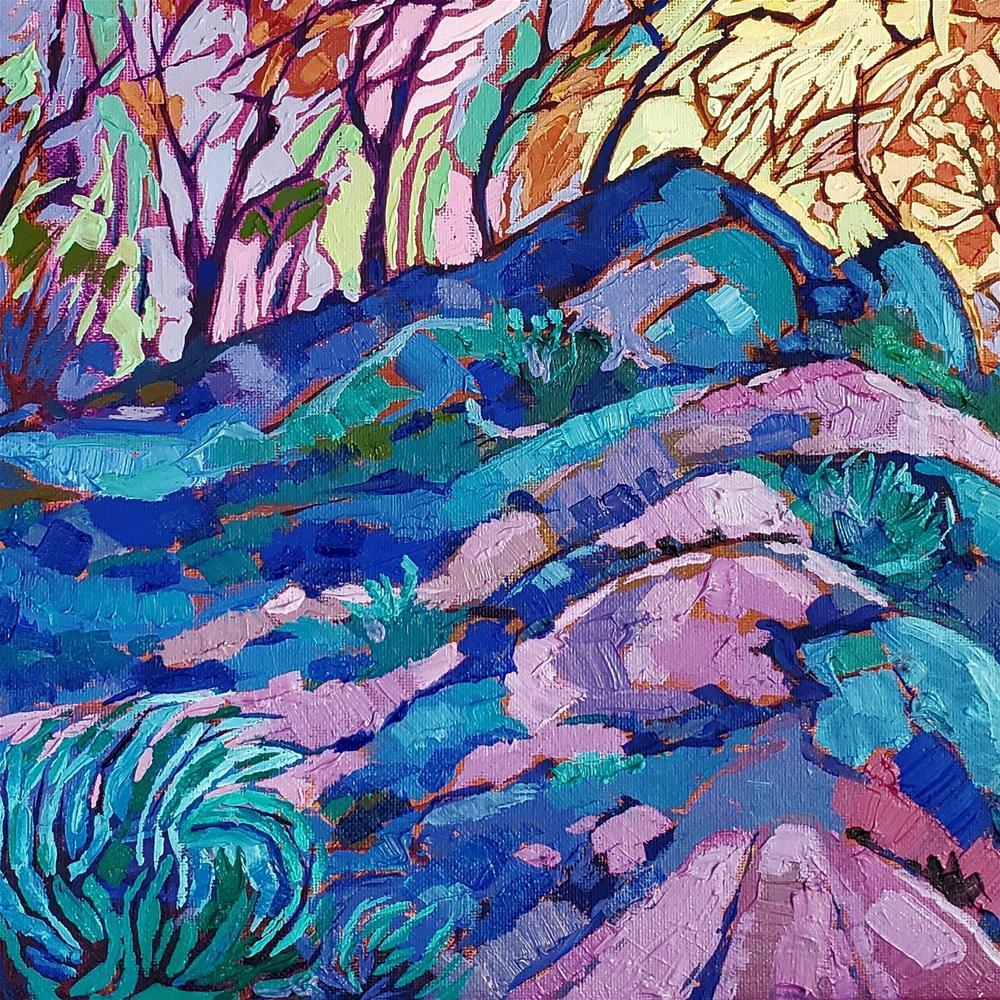 """Hiking into Fall"" original fine art by Bhavna Misra"