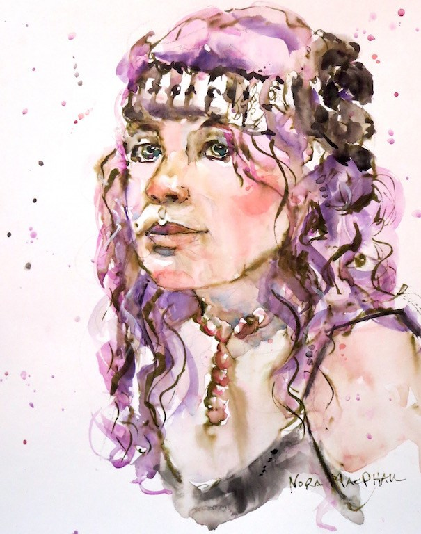 """purple tresses"" original fine art by Nora MacPhail"