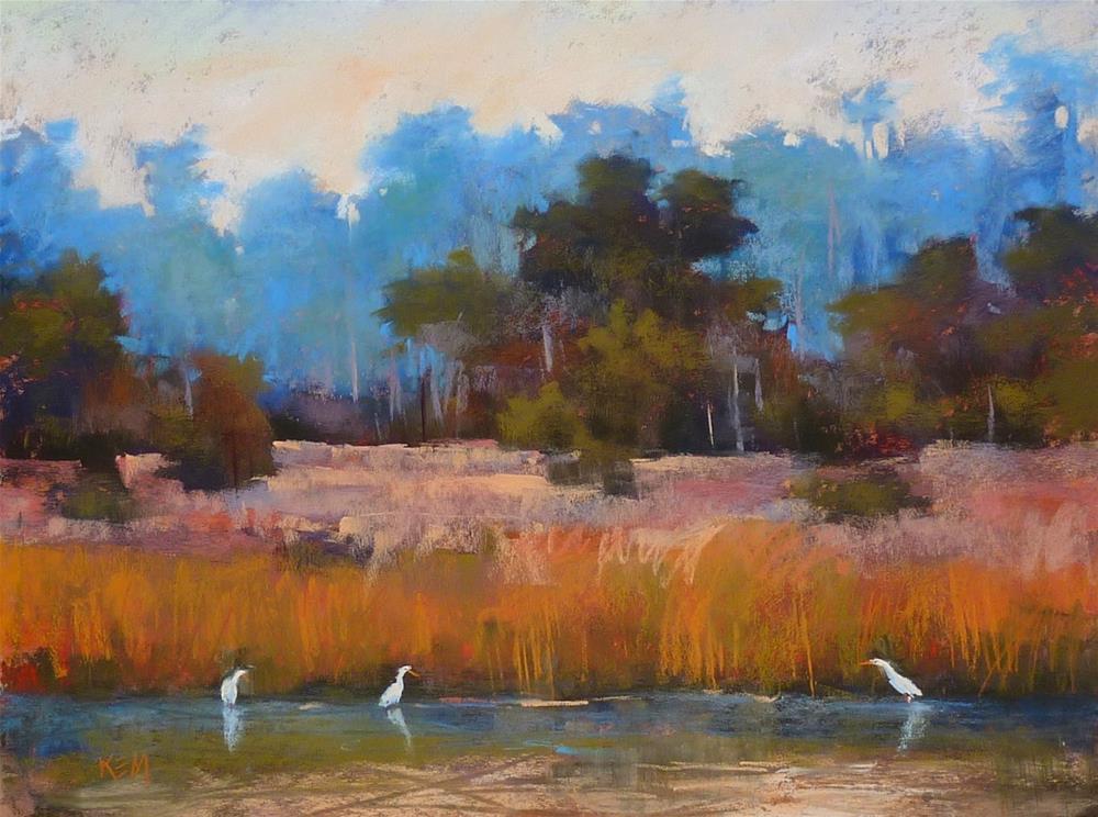 """A Quick Way to Add a Bird to a Landscape Painting"" original fine art by Karen Margulis"