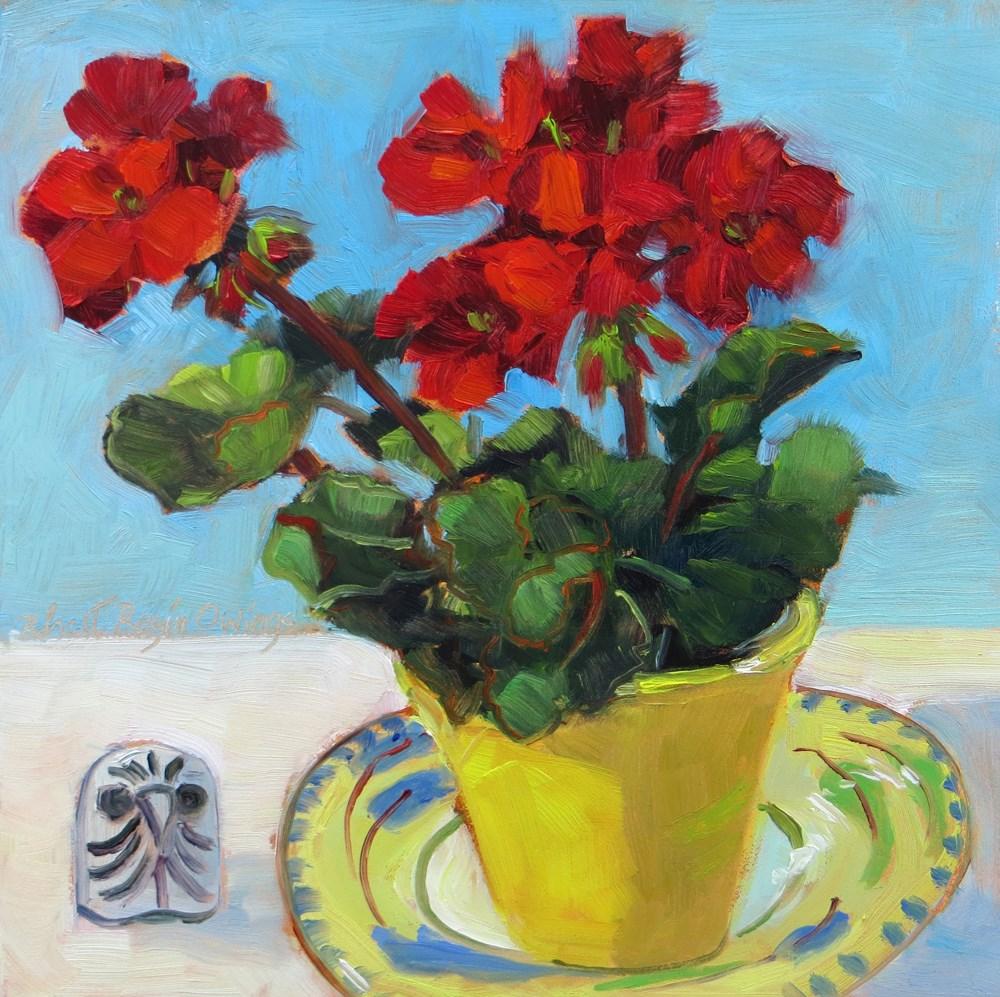"""Who's a Geranium?"" original fine art by Rhett Regina Owings"
