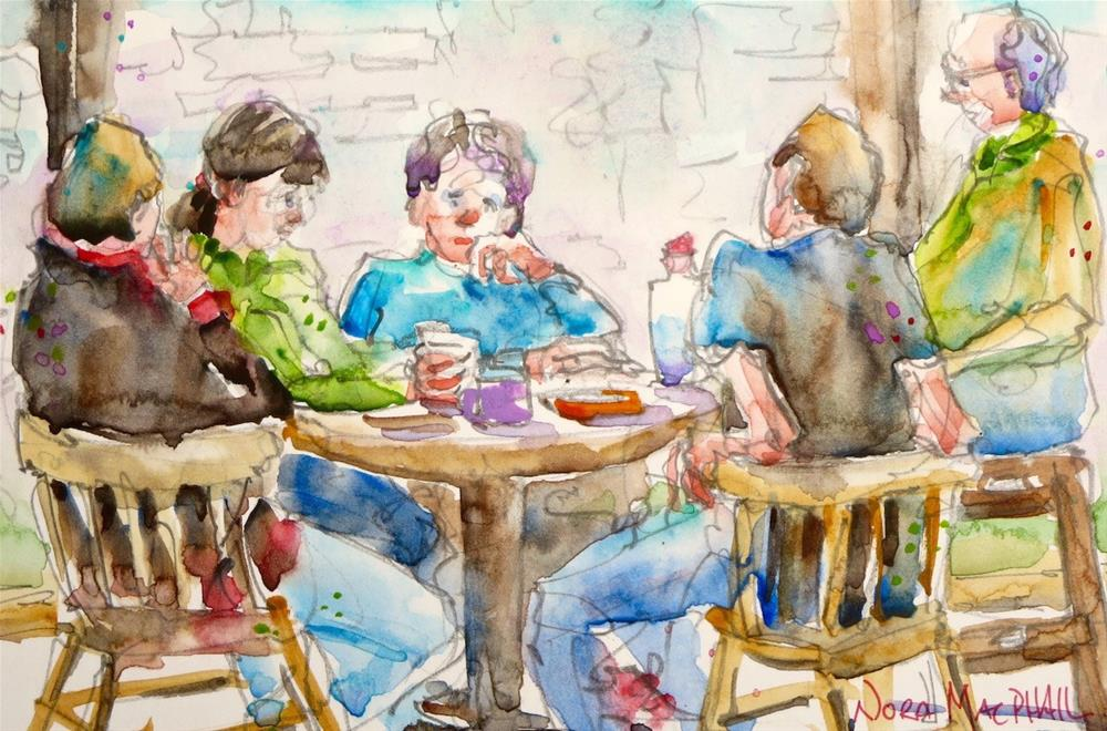 """""""late lunch"""" original fine art by Nora MacPhail"""