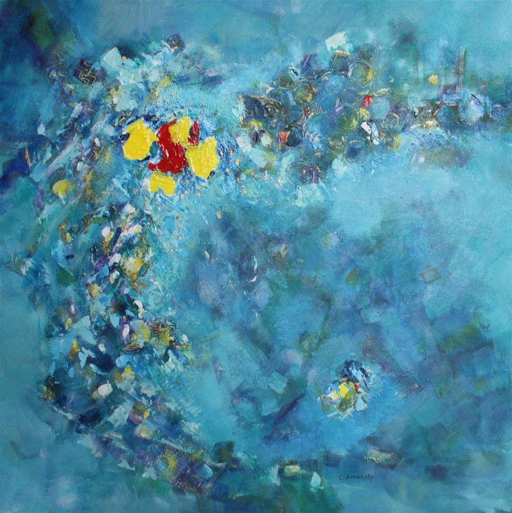 """""""Atlantis Rising"""" original fine art by Christiane Kingsley"""