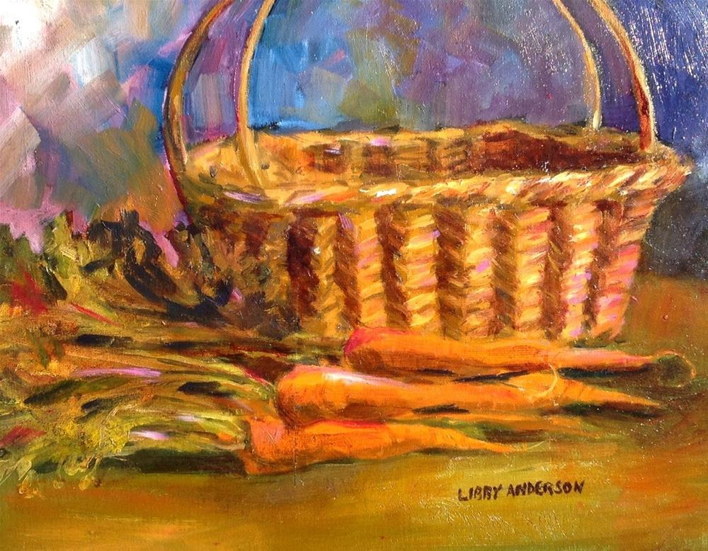 """""""Carrots"""" original fine art by Libby Anderson"""