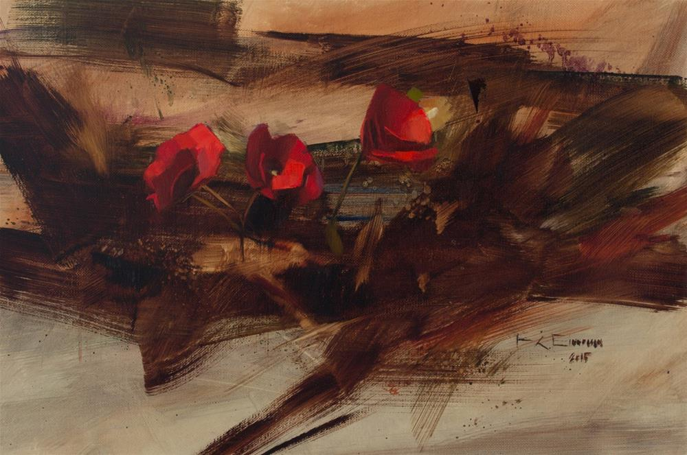 """Red Begonias"" original fine art by Thorgrimur Andri Einarsson"