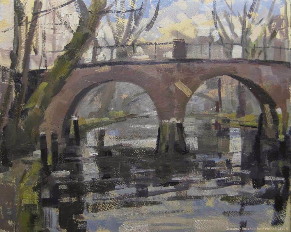 """""""Gaardebrug Utrecht, The Netherlands"""" original fine art by René PleinAir"""