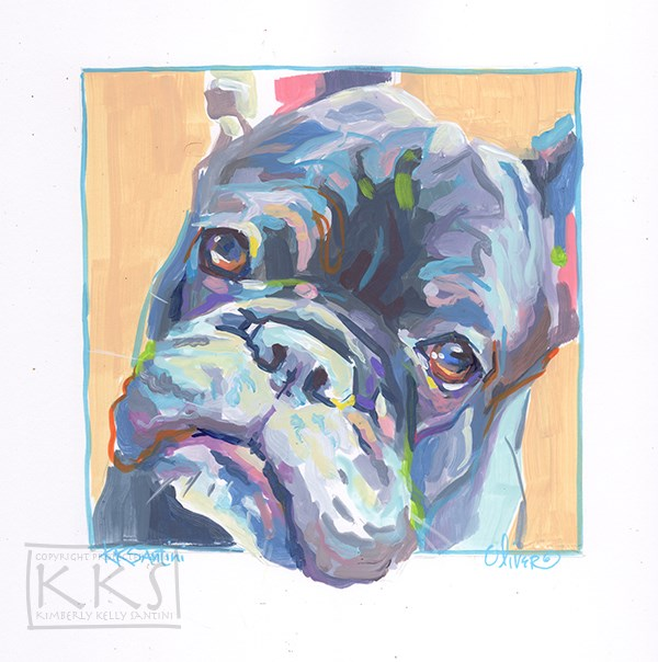 """Oliver, A Painted Sketch"" original fine art by Kimberly Santini"