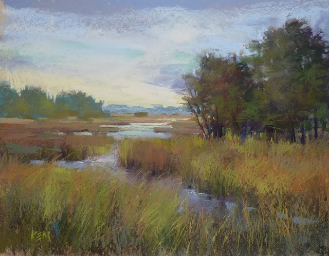 """New Sunday Studio Video Demo: Painting a Marsh"" original fine art by Karen Margulis"