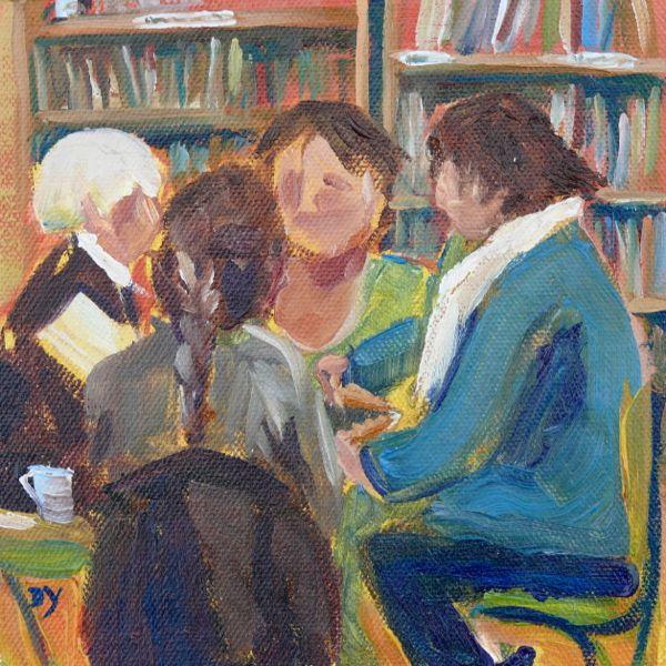 """Scrabble, oil on canvas board, 6x6"" original fine art by Darlene Young"