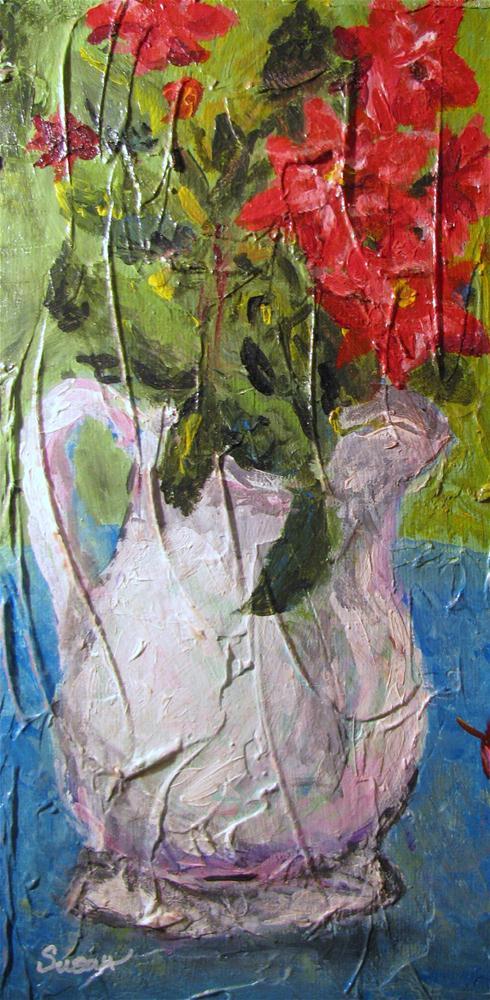 """Knockout Roses"" original fine art by Susan Elizabeth Jones"