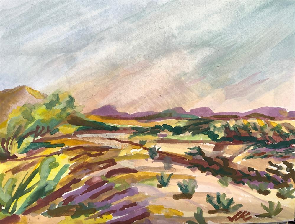 """""""Near the Salt River, AZ"""" original fine art by Jean Krueger"""