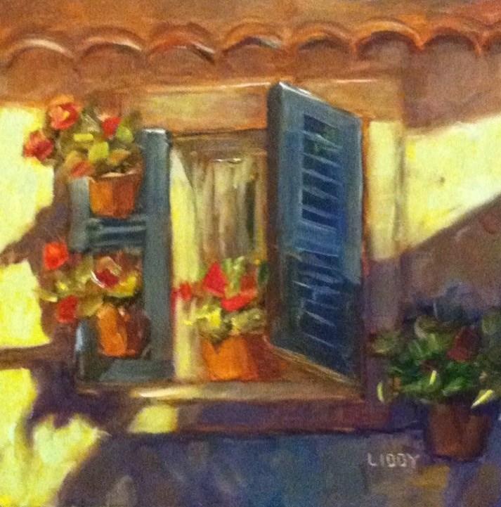 """""""Window in Avignon"""" original fine art by Libby Anderson"""