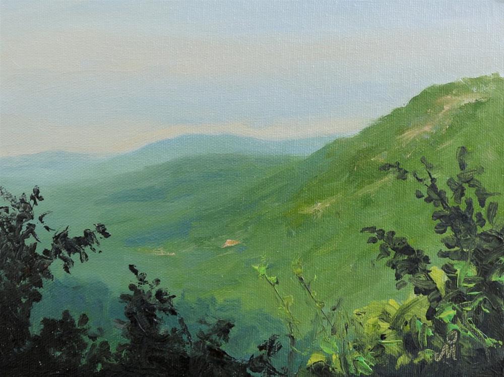 """Morning in Anmod"" original fine art by Mandar Marathe"