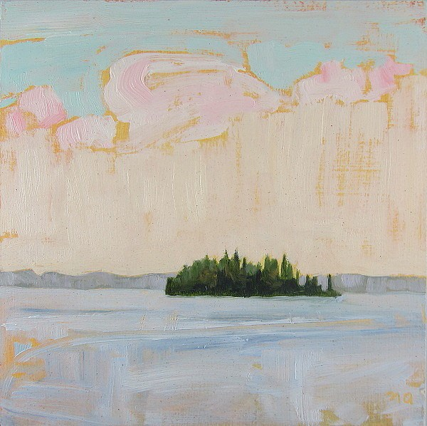 """""""King's Island, View From South Bay"""" original fine art by Nicki Ault"""