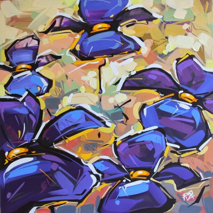 """Flower Abstraction 120"" original fine art by Roger Akesson"