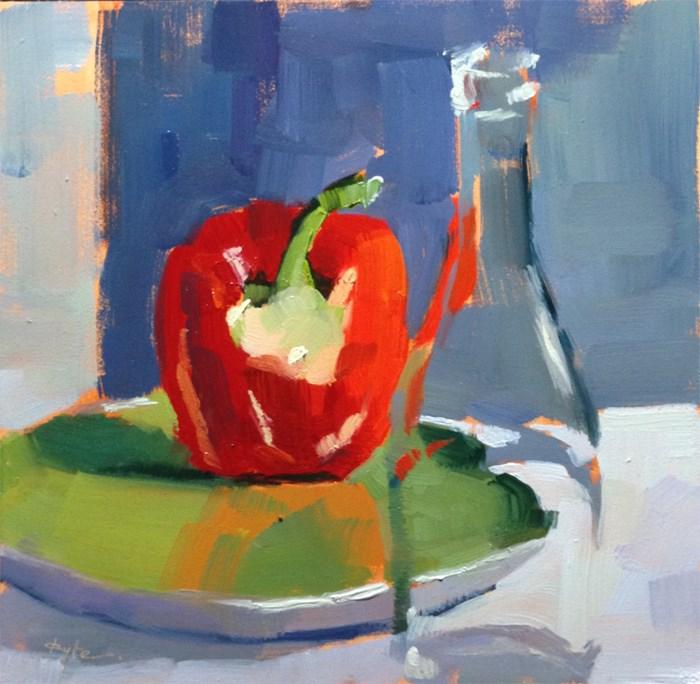 """""""Red Pepper"""" original fine art by Katia Kyte"""