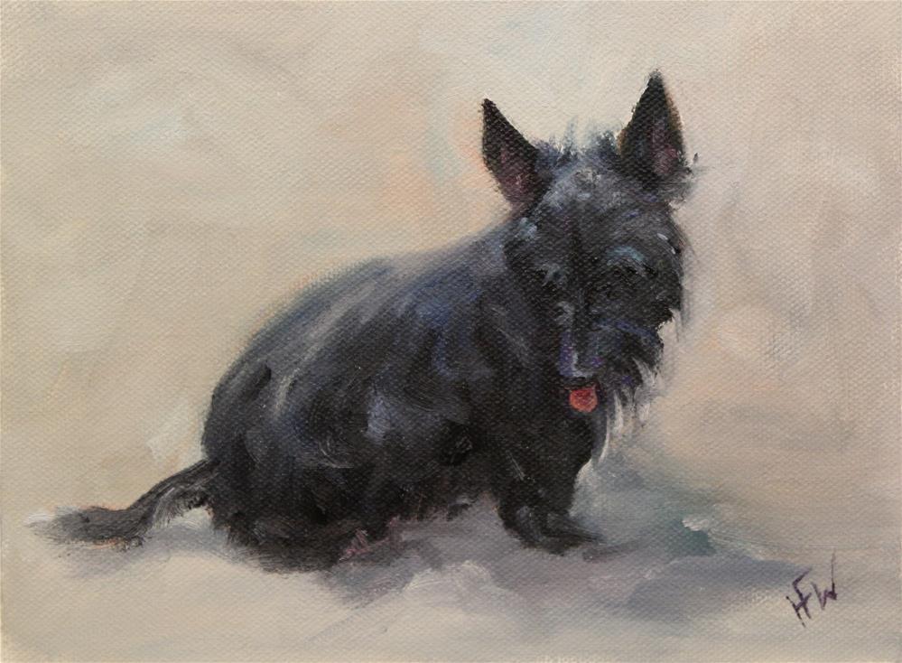 """""""Scotty Puppy"""" original fine art by H.F. Wallen"""