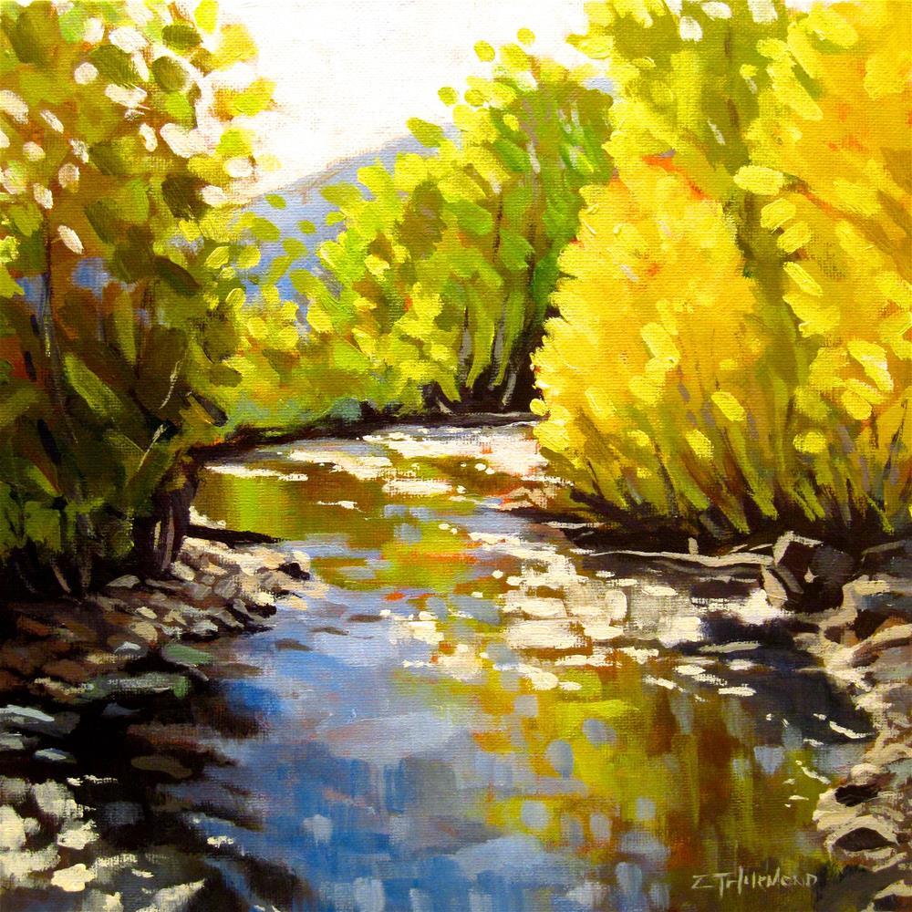 """Trail Creek Reflections"" original fine art by Zack Thurmond"