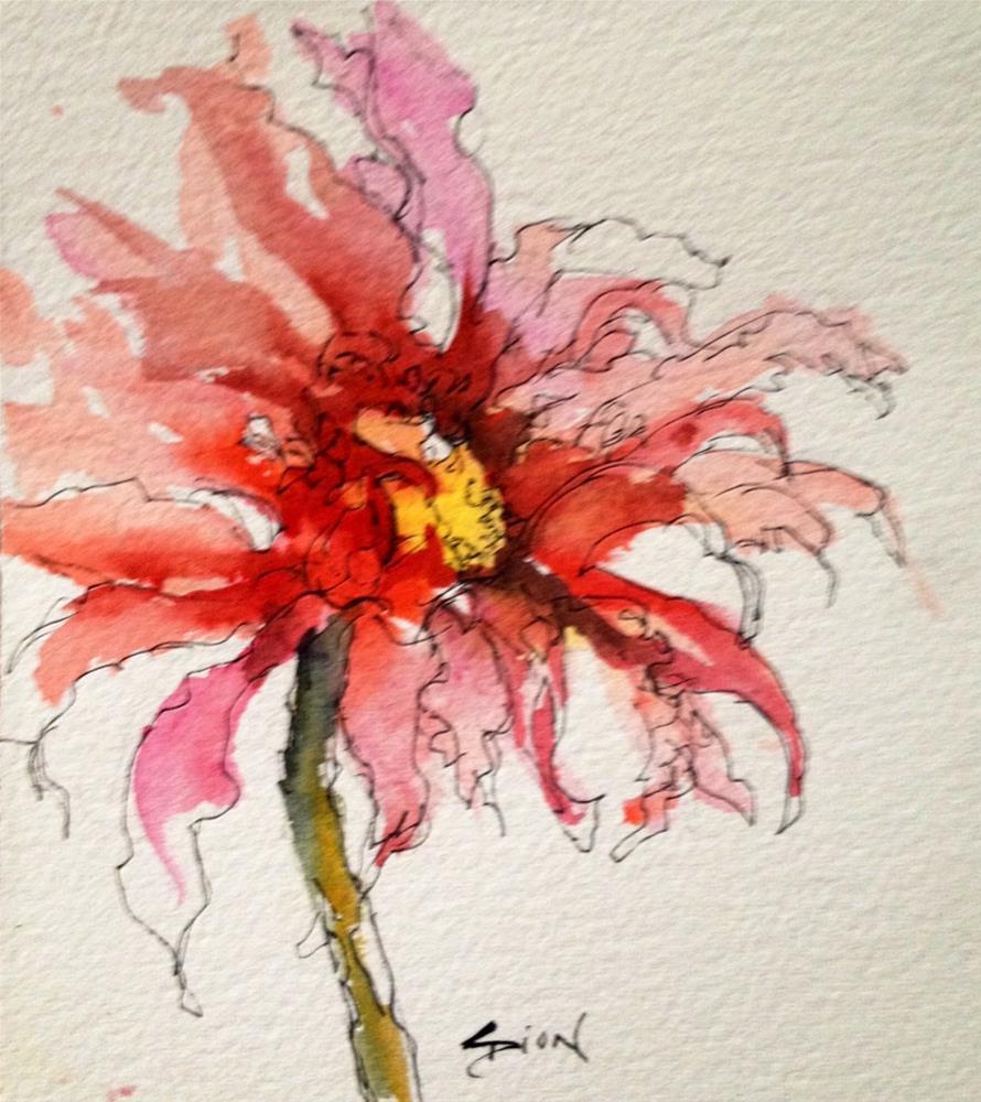 """Splendid"" original fine art by Sue Dion"