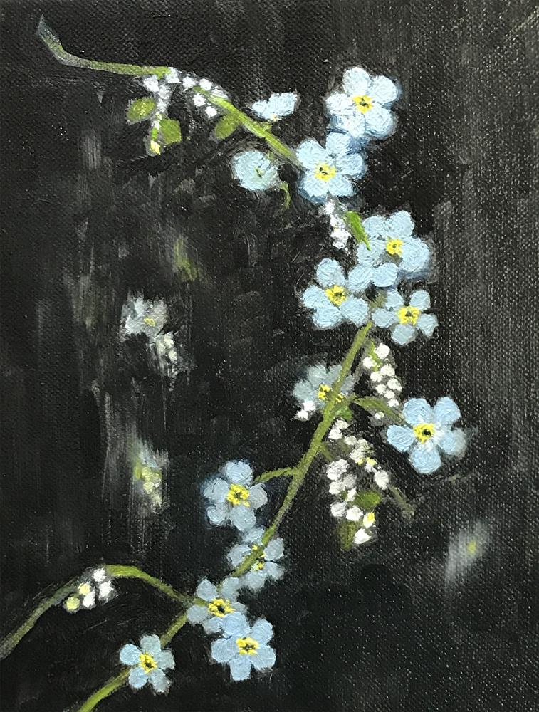 """Alaska state flower the Alpine Forget-me-not"" original fine art by Betty Argiros"