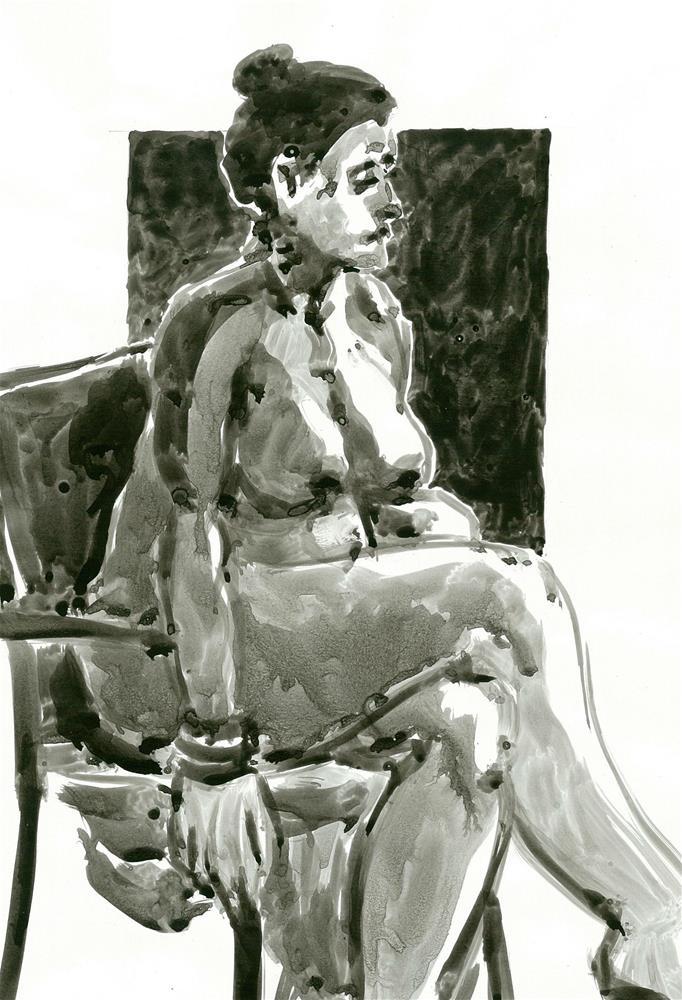"""313 LIFE DRAWING 28"" original fine art by Trevor Downes"