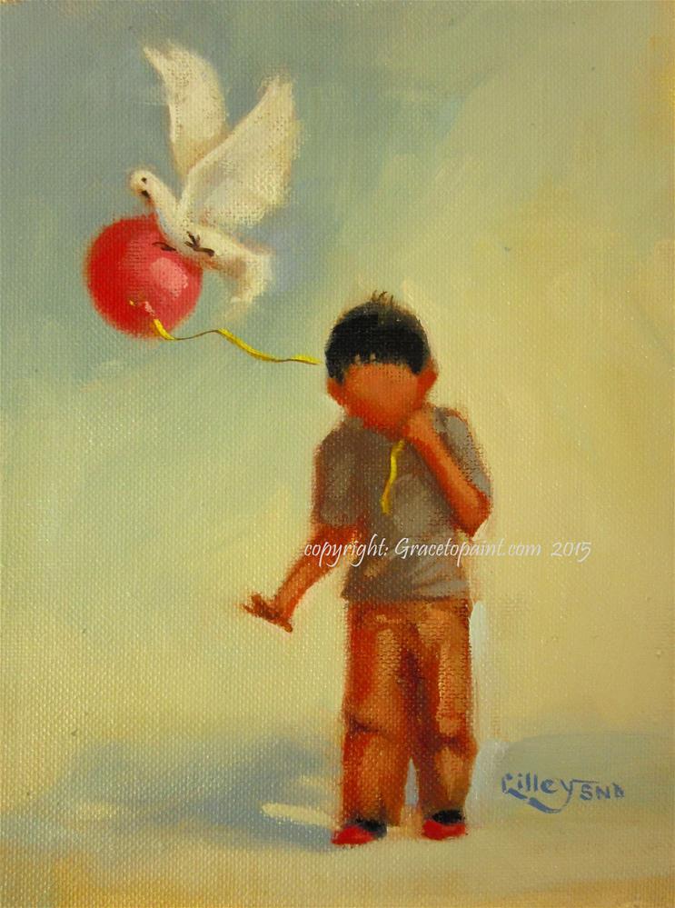 """""""Coo-dos: Balloon"""" original fine art by Maresa Lilley"""