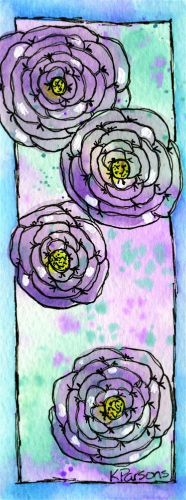 """""""Four Purples"""" original fine art by Kali Parsons"""