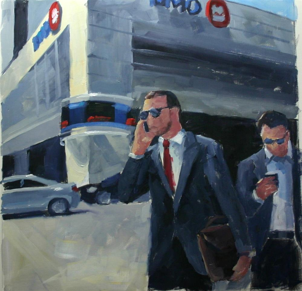 """launch Break, Bay Street at King"" original fine art by Catherine Jeffrey"