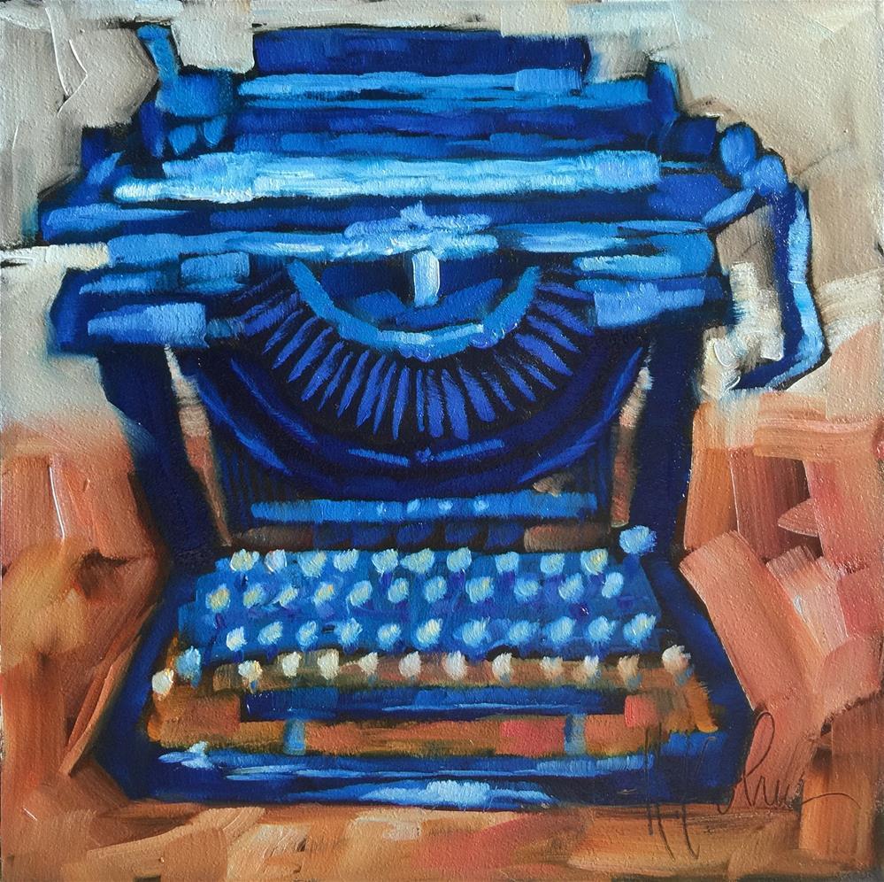 """""""Remington Typewriter"""" original fine art by Hallie Kohn"""