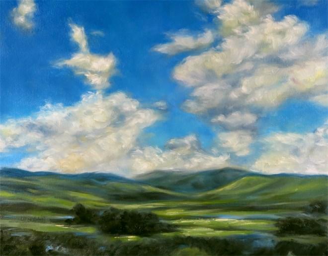 """""""Going Green"""" original fine art by Carol Zirkle"""