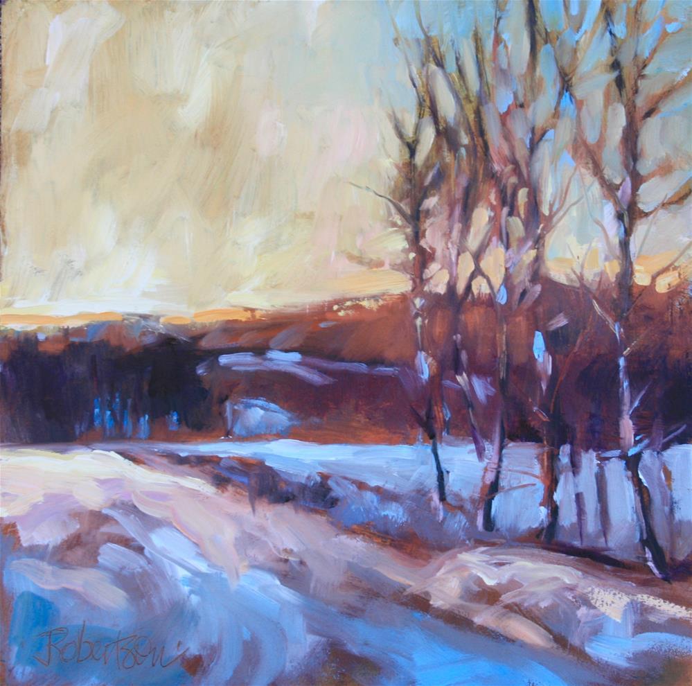 """""""Snowy Fields"""" original fine art by Jane Robertson"""