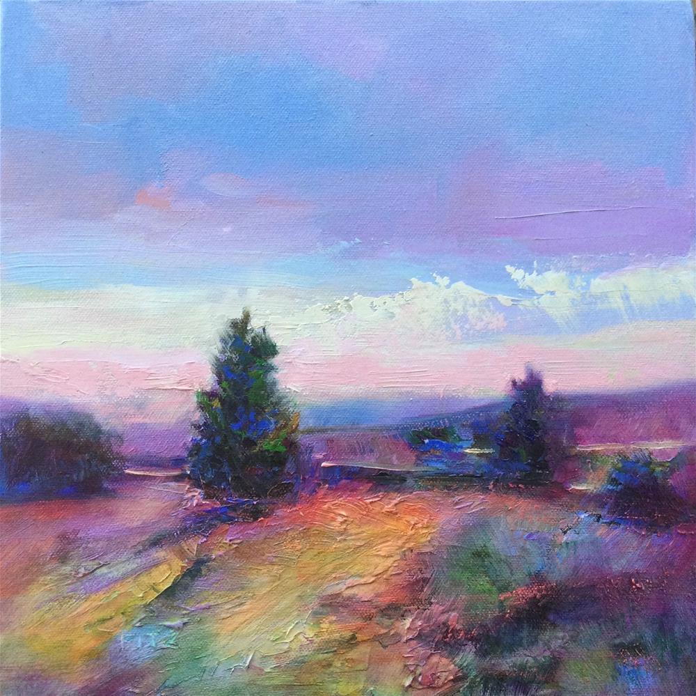 """Impasto Landscape 94"" original fine art by Charlotte Fitzgerald"