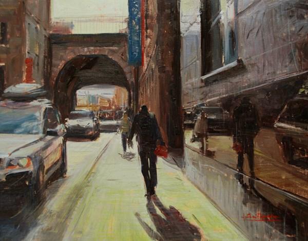 """Summer Heat, Edinburgh"" original fine art by Adebanji Alade"