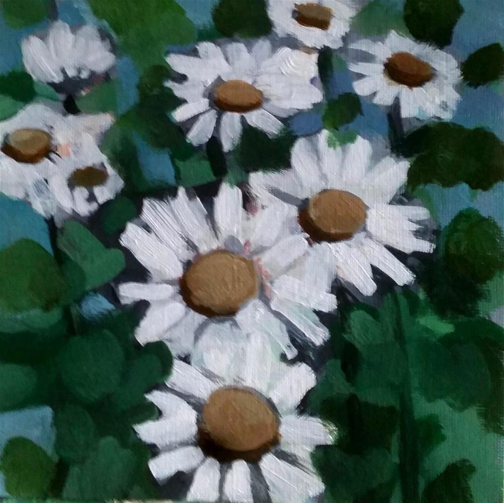 """""""Wild Daisies"""" original fine art by Liz Maynes"""